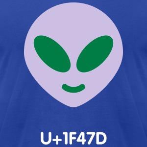 Alien emoticon - Men's T-Shirt by American Apparel