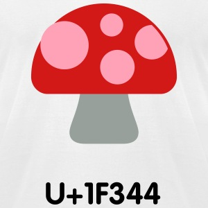 Mushroom emoticons - Men's T-Shirt by American Apparel