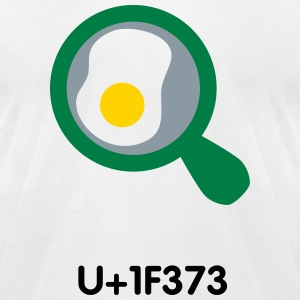 Cooking UTF8 emoticon - Men's T-Shirt by American Apparel