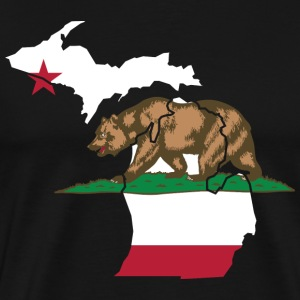 Michigan California Funny Pride Flag Apparel T-Shirts - Men's Premium T-Shirt