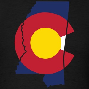 Mississippi Colorado Funny Pride Flag Apparel T-Shirts - Men's T-Shirt