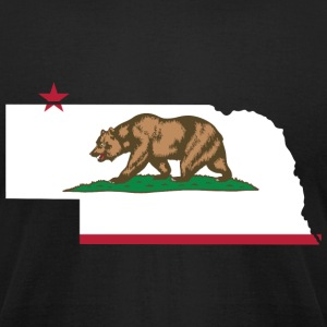 Nebraska California Funny Pride Flag Apparel T-Shirts - Men's T-Shirt by American Apparel