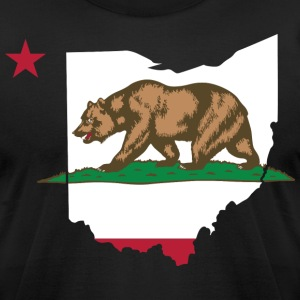 Ohio California Funny Pride Flag Apparel T-Shirts - Men's T-Shirt by American Apparel
