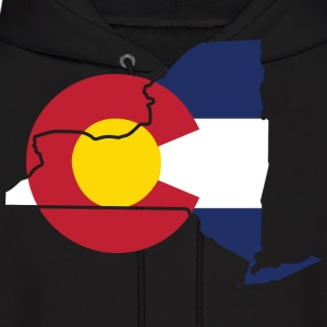New York Colorado Funny Pride Flag Apparel Hoodies - Men's Hoodie