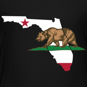 Florida California Funny Pride Flag Bear Tshirt Baby & Toddler Shirts - Toddler Premium T-Shirt