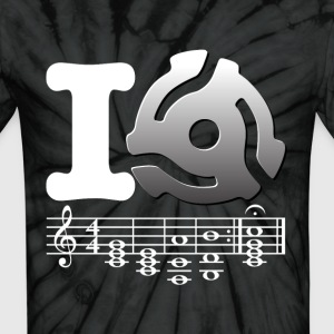 I 45rpm Adapter Music Tie Die - Unisex Tie Dye T-Shirt