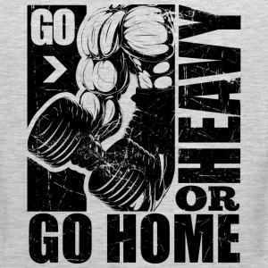 Go Heavy Gym Quotes - Men's Premium Tank