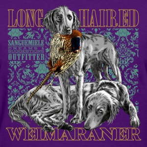 long haired weimaraner Women's T-Shirts - Women's T-Shirt