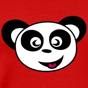 Happy Panda Face - Men's Premium T-Shirt