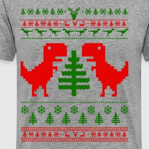 T Rex ugly sweater T-Shirts - Men's Premium T-Shirt