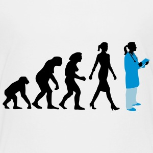 evolution_of_woman_female_doctor_112014_ Kids' Shirts - Kids' Premium T-Shirt