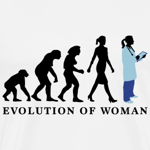 evolution_of_woman_female_doctor_112014_ T-Shirts - Men's Premium T-Shirt