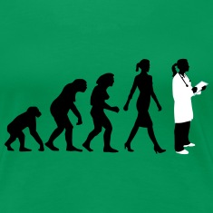 evolution_of_woman_female_doctor_112014_ Women's T-Shirts