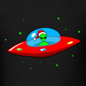 UFO Alien Santa Claus - Men's T-Shirt