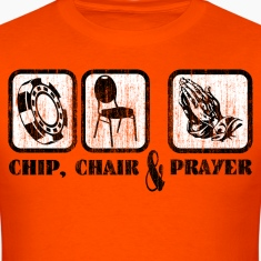 Poker Chip Chair Prayer T-Shirts
