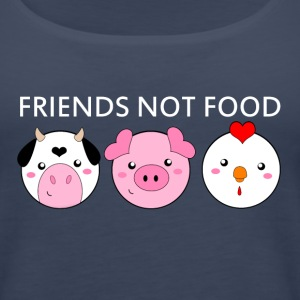 Animals Are Friends Not Food - Women's Premium Tank Top