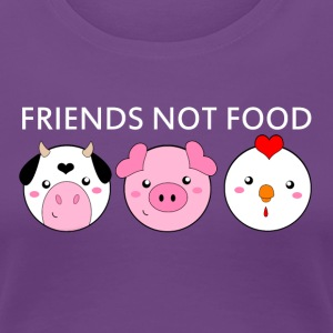 Animals Are Friends Not Food - Women's Premium T-Shirt