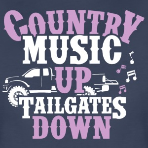 Country Up, Tailgates Down - Women's Premium T-Shirt