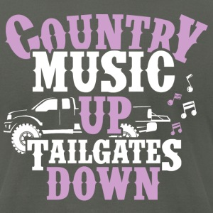 Country Up, Tailgates Down - Men's T-Shirt by American Apparel