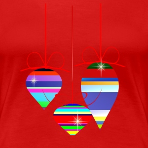 Three Christmas Ornaments - Women's Premium T-Shirt