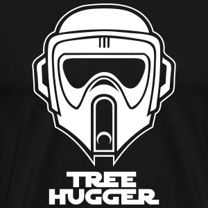 Star Wars inspired Biker Scout Trooper Tree Hugger - Men's Premium T-Shirt