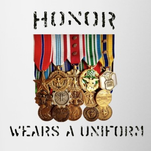 Honor Medals Full Mugs & Drinkware - Contrast Coffee Mug