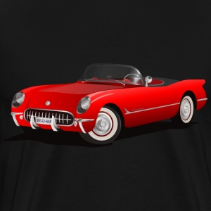 Red Corvette Convertible - Men's Premium T-Shirt