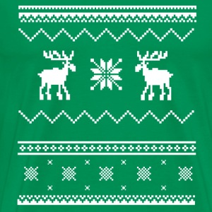 Ugly Christmas SweaterShirt - Oh Deer - Men's Premium T-Shirt
