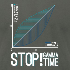 STOP!  Gamma Time - Men's T-Shirt by American Apparel