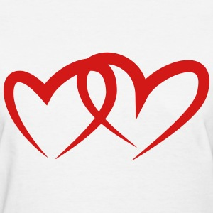 Hearts Joined T-Shirts - Women's T-Shirt