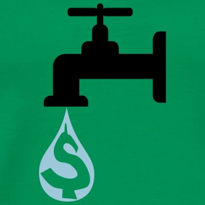 Faucet with Money Drippin - Men's Premium T-Shirt