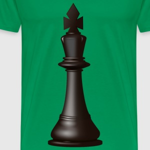 Black King Chess Piece - Men's Premium T-Shirt