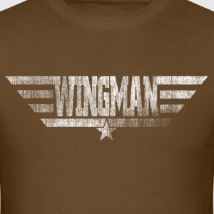 Wingman White Distressed - Men's T-Shirt