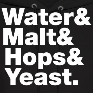 Beer | Water & Malt & Hops & Yeast. Hoodies - Men's Hoodie