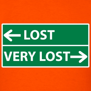 Lost - Very Lost Road Sign T-Shirts - Men's T-Shirt