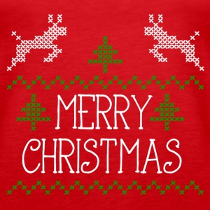 Merry Christmas design I Tanks - Women's Premium Tank Top
