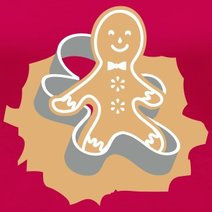 Gingerbread Man Cookie Cutter Women's T-Shirts - Women's Premium T-Shirt