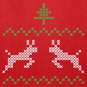 Christmas design with three and deer I Bags & backpacks - Tote Bag