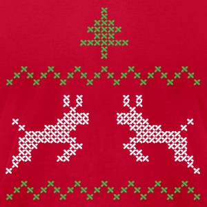 Christmas design with three and deer I T-Shirts - Men's T-Shirt by American Apparel