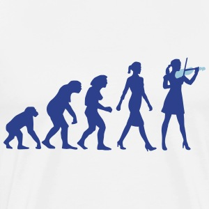 evolution_female_violin_player_112014_b_ T-Shirts - Men's Premium T-Shirt