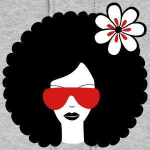 Curly haired sommer girl with flower Hoodies - Women's Hoodie