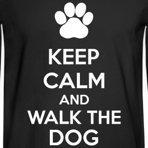 Keep Calm And Walk The Dog Long Sleeve Shirts - Men's Long Sleeve T-Shirt