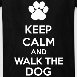 Keep Calm And Walk The Dog Kids' Shirts - Kids' T-Shirt