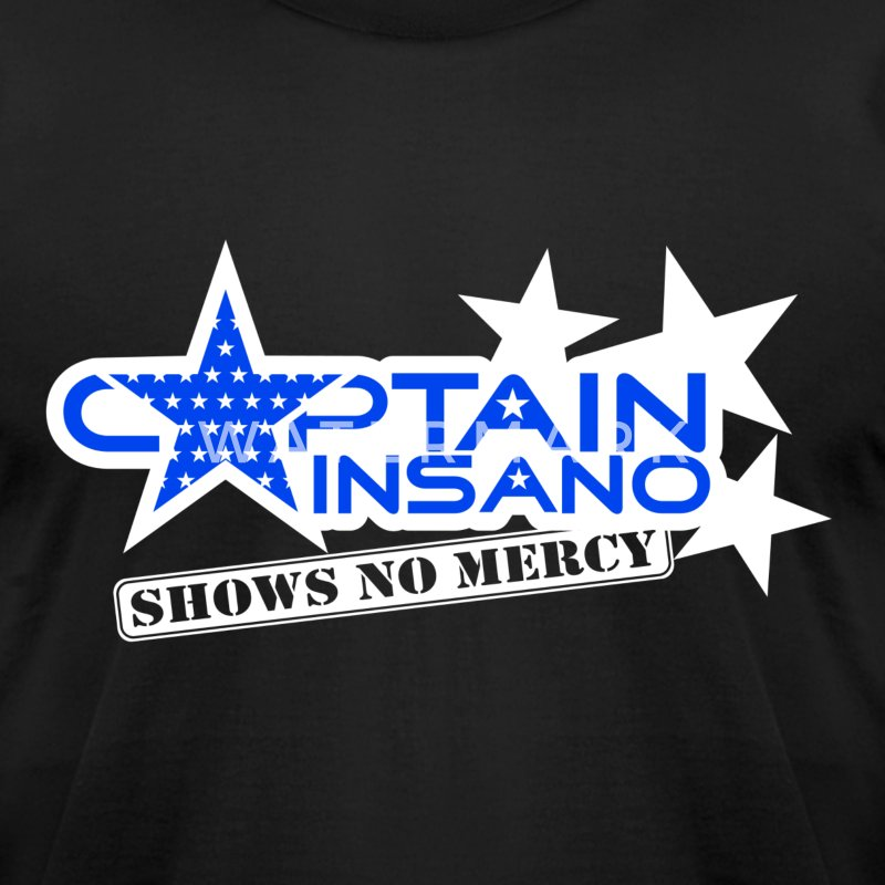 Captain Insano-for-dark - Men's T-Shirt by American Apparel