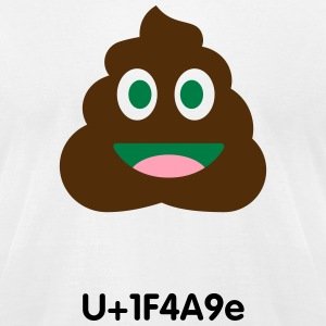 Pile of poo emoticon - Men's T-Shirt by American Apparel
