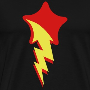 shooting star red with lightning comet T-Shirts - Men's Premium T-Shirt