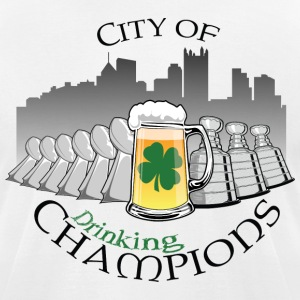 City of Drinking Champions - Pittsburgh T-Shirt - Men's T-Shirt by American Apparel