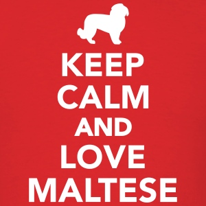 Keep calm and love Maltese T-Shirts - Men's T-Shirt