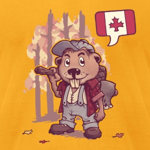 beaver Canada T-Shirts - Men's T-Shirt by American Apparel