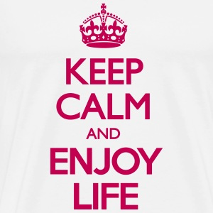 Keep Calm And Enjoy Life T-Shirts - Men's Premium T-Shirt